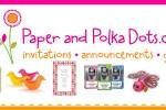 paper polka dot ad