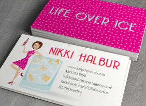 Life Over Ice Business Card