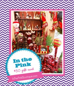 The Savvy Socialista Giveaway: In The Pink $50 Gift Card