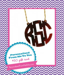 The Savvy Socialista Giveaway: Personalized From Me To You $50 Gift Card