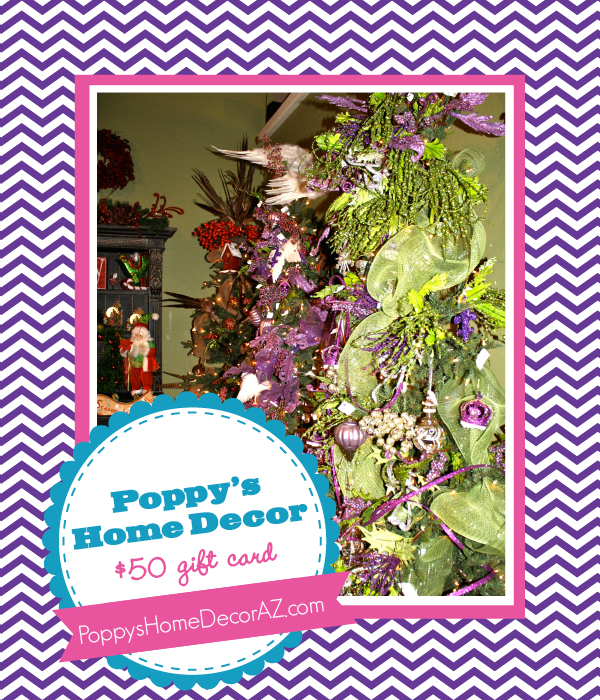 The Savvy Socialista Giveaway: Poppy's Home Decor $50 Gift Card