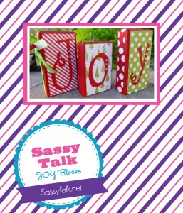 The Savvy Socialista Giveaway: Sassy Talk JOY Blocks