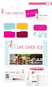 Life Over Ice Blog Branding Board