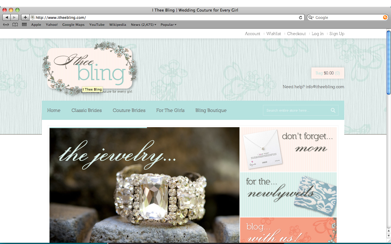 I Thee Bling Website
