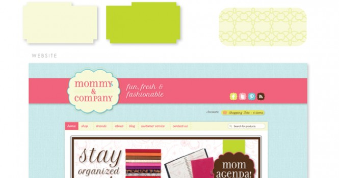 Mommy and Company Brand Board