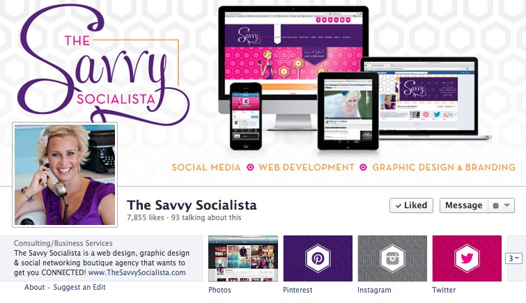 facebook page- The Savvy Socialista