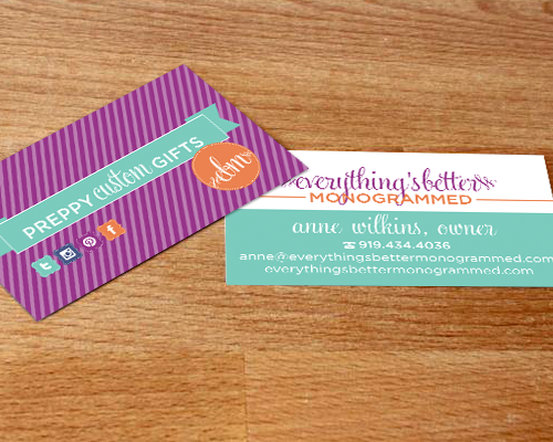 Everythings better monogrammed the savvy socialistathe savvy everythings better monogrammed business card the savvy socialista colourmoves