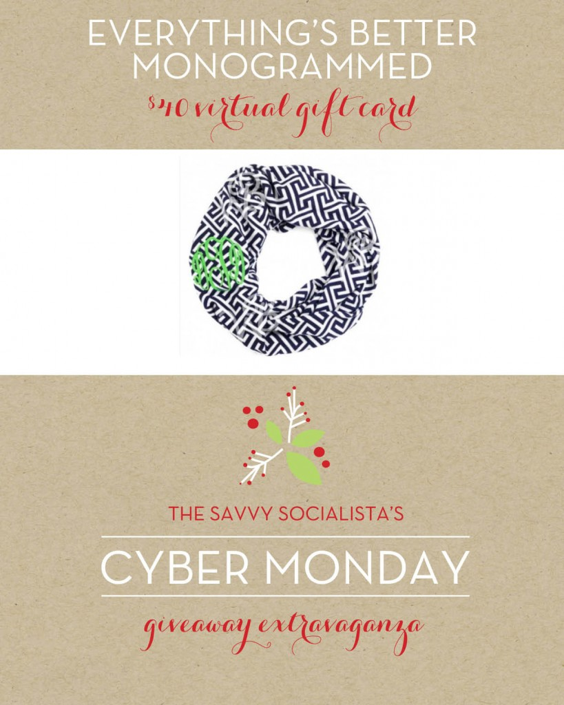 The Savvy Socialista Giveaway_Everything's Better Monogrammed