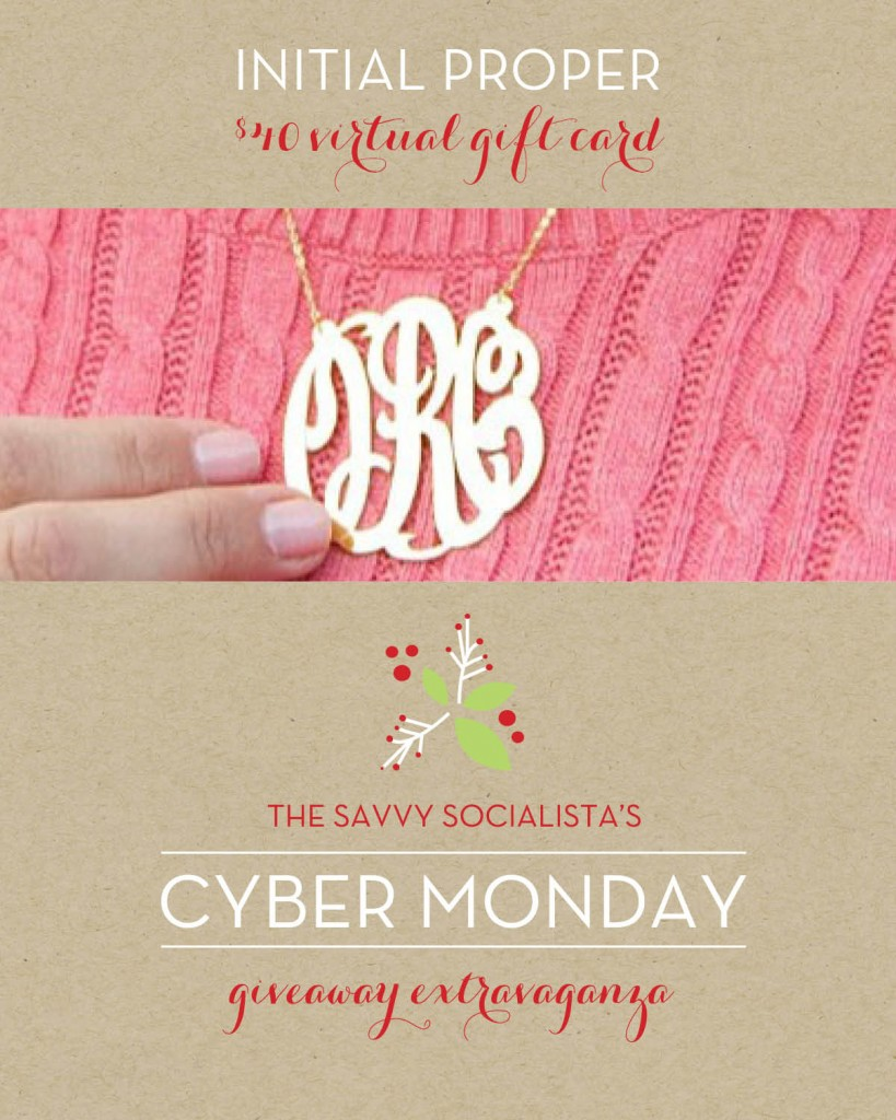 The Savvy Socialista Giveaway_Initial Proper