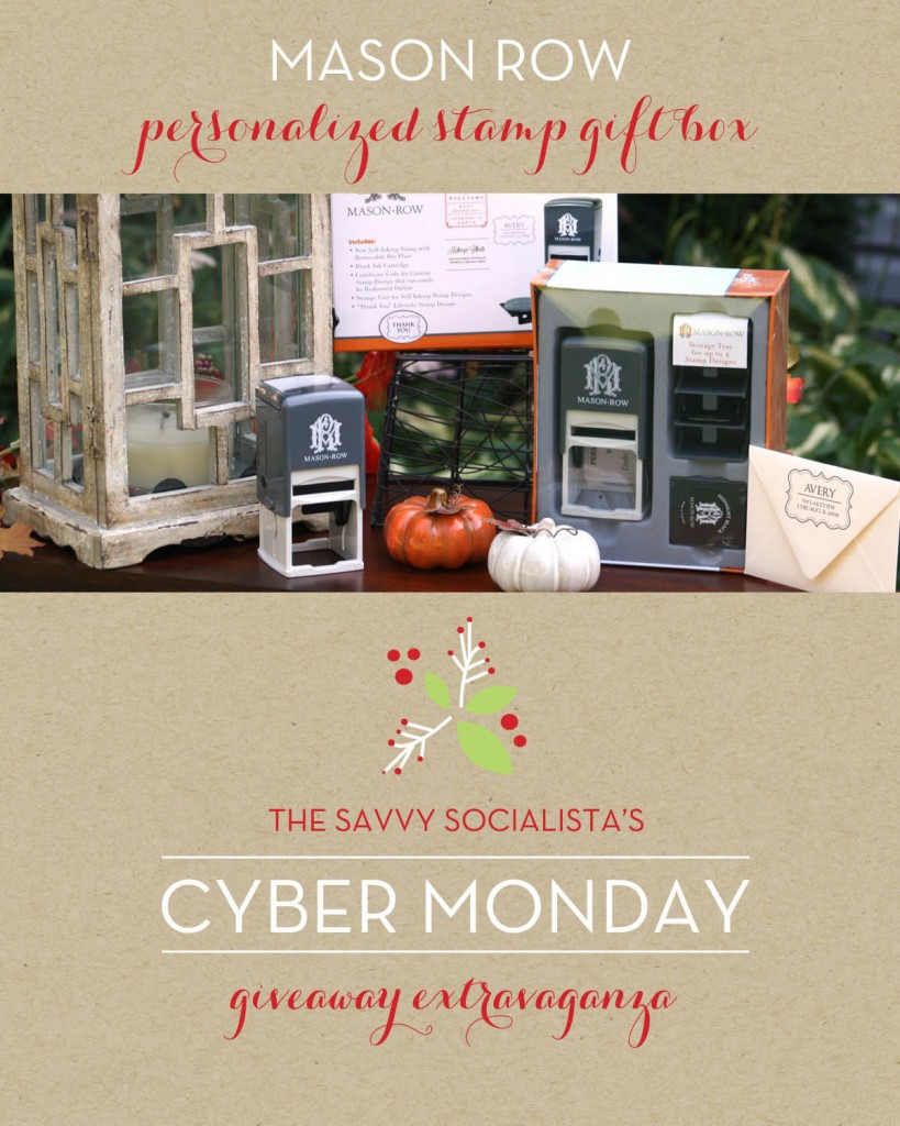 The Savvy Socialista Giveaway_Mason Row