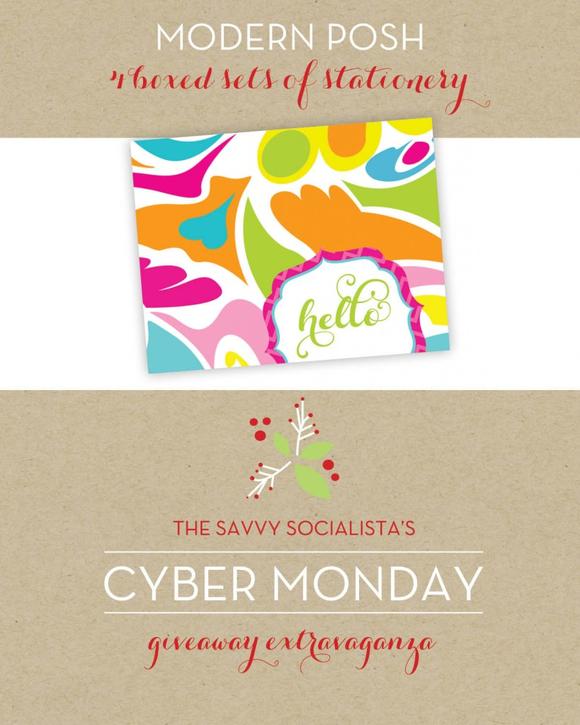 The Savvy Socialista Giveaway_Modern Posh