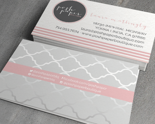 The Savvy Socialista Business Card Posh Paper Boutique