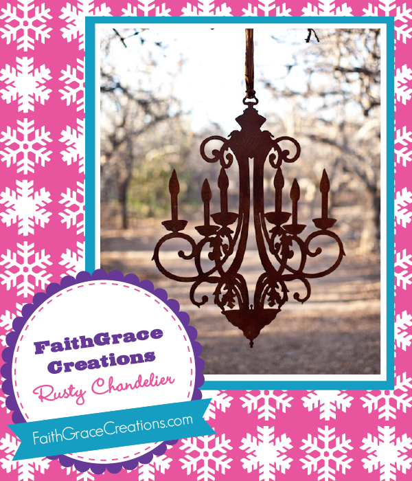The Savvy Socialista Giveaway: FaithGrace Creations Rusty Chandelier