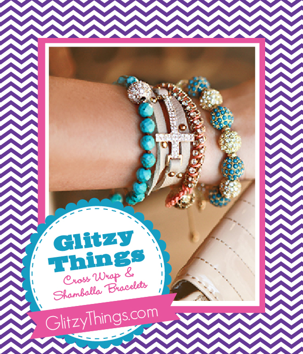The Savvy Socialista Giveaway: Glitzy Things Cross Wrap & Shamballa Bracelets