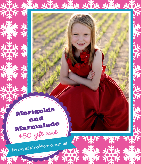 The Savvy Socialista Giveaway: Marigolds and Marmalade $50 gift card