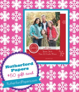 The Savvy Socialista Giveaway: Rutherford Papers $50 Gift Card