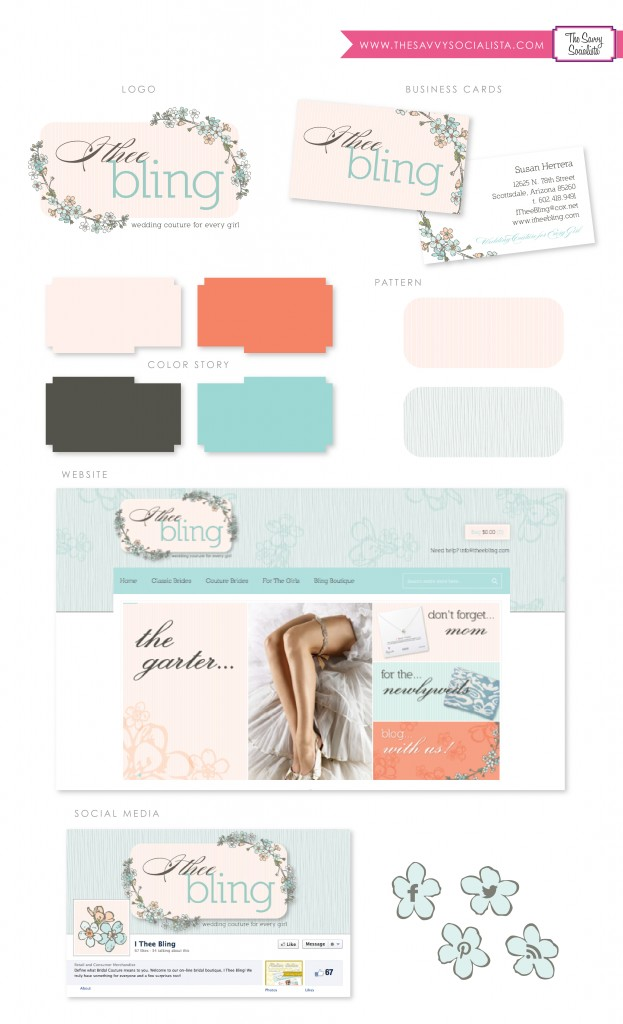 I Thee Bling Brand Board by The Savvy Socialista