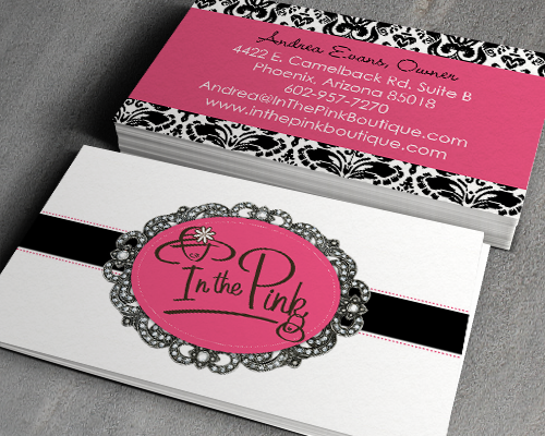 In The Pink Business Cards