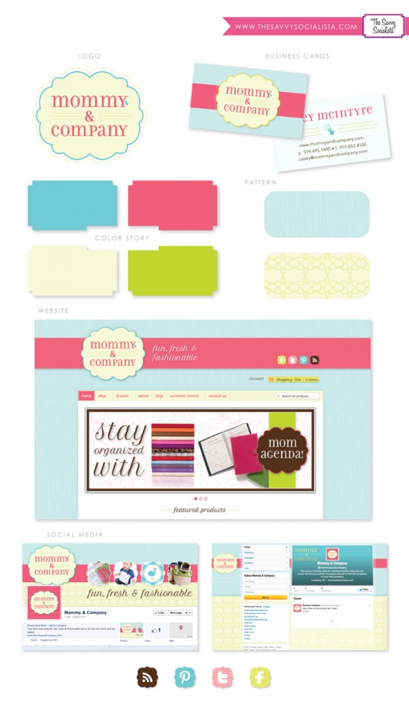 Mommy and Company Brand Board-The Savvy Socialista