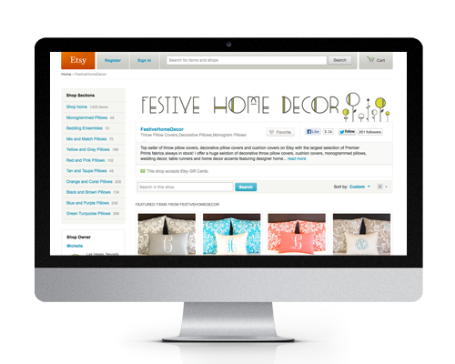 Festive Home Decor Etsy Banner By The Savvy Socialista