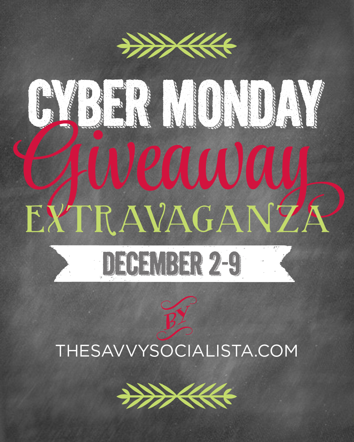 cyber monday sweepstakes the savvy socialista cyber monday giveaway the savvy 9419