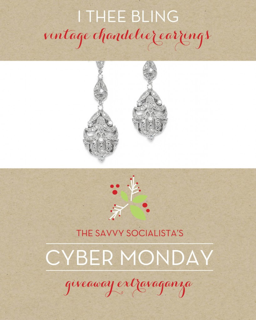 The Savvy Socialista Giveaway_I Thee Bling