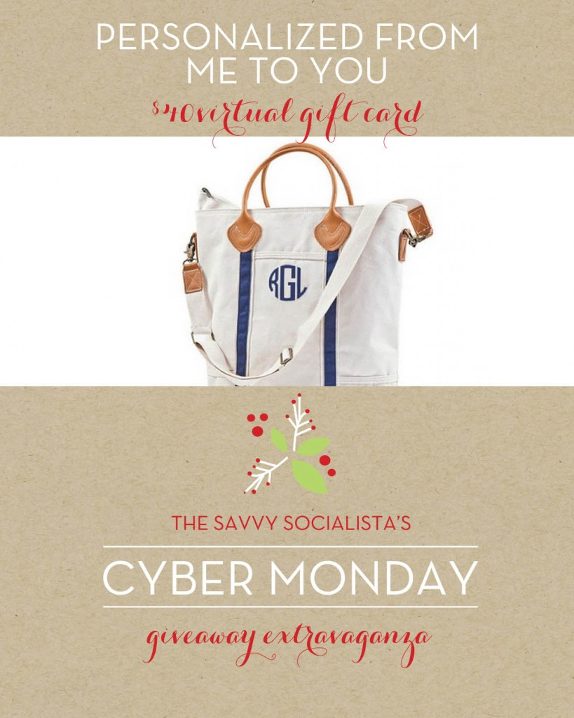 The Savvy Socialista Giveaway_Personalized from Me to You