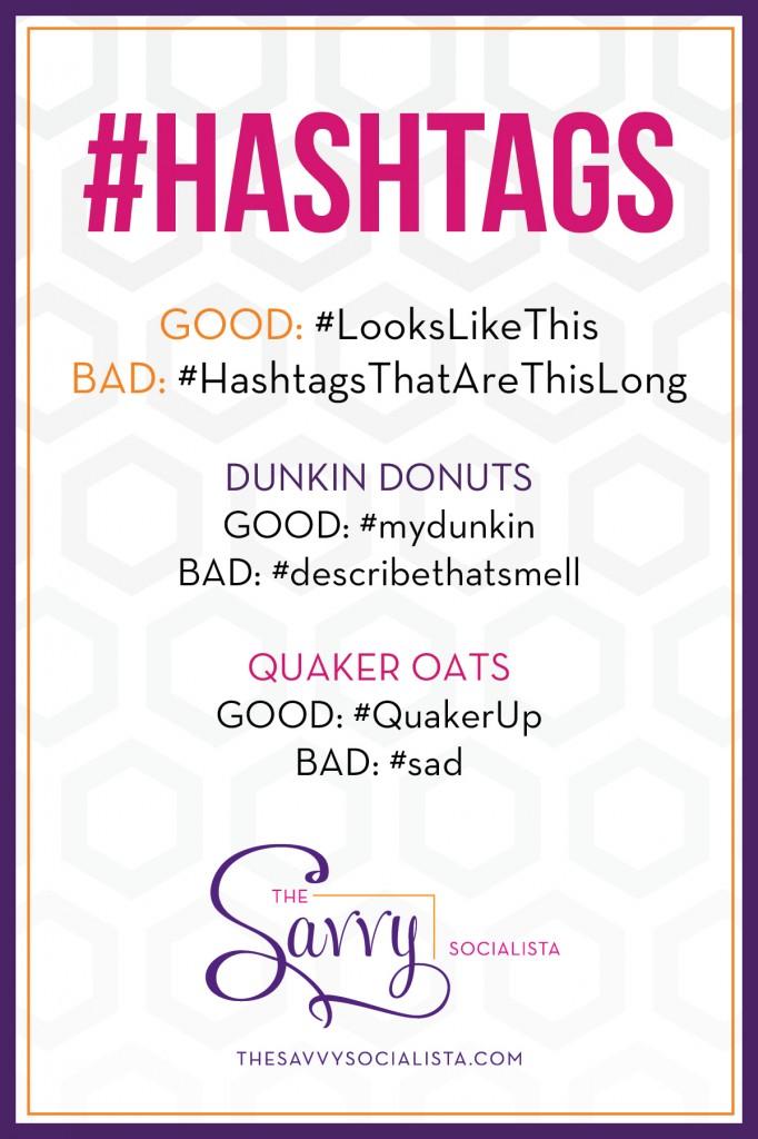 The Savvy Socialista Hashtags